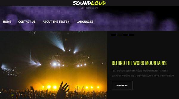 Soundcloud- Slider Ready WordPress Theme