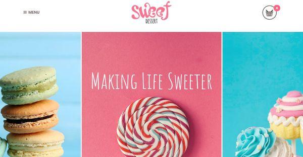 Sweet Dessert – Plugins WordPress Theme