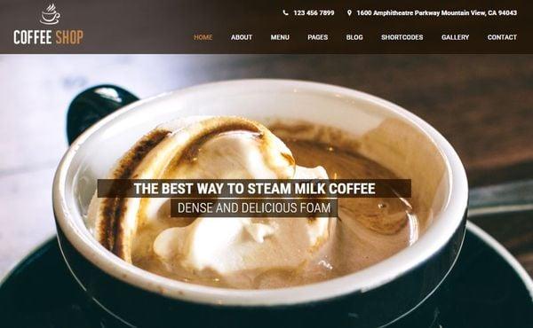 Coffee Shop - Cross-browser Compatible WordPress Theme