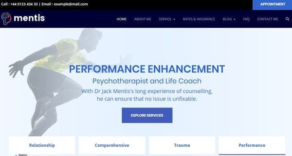 Theme Mentis- Powerful WP Theme for Psychologists