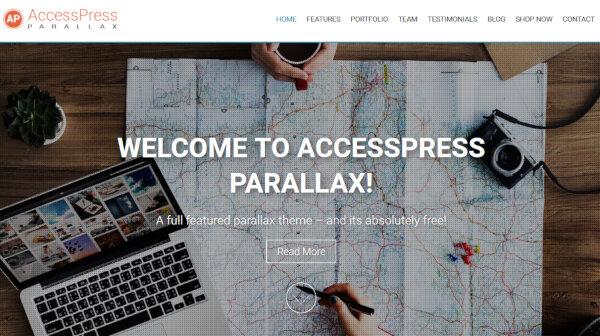 Parallax- Translation- Ready WordPress Theme