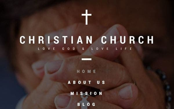 Christian Church – Fully Editable WordPress Theme
