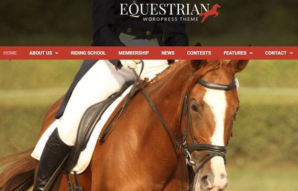 Equestrian – Drag and Drop Page Builder WP Theme