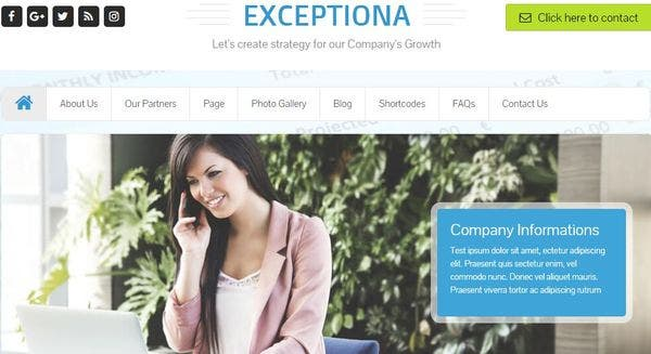 Exceptiona – HTML5 & CSS3 Coded WordPress Theme