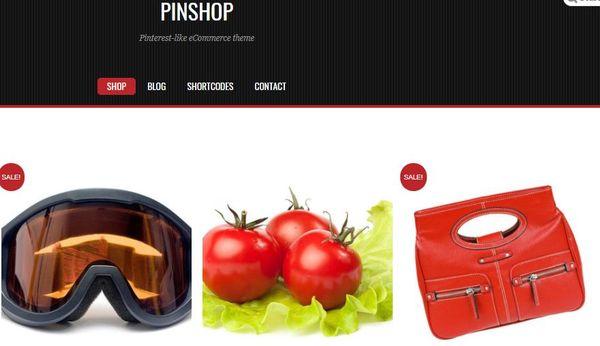 Pinshop - CSS3 coded WordPress Theme