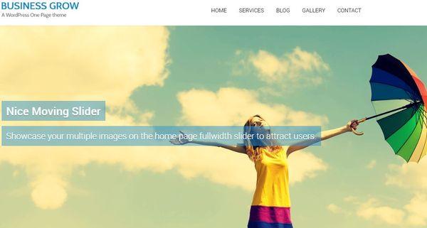 Business Grow – Parallax WordPress Theme