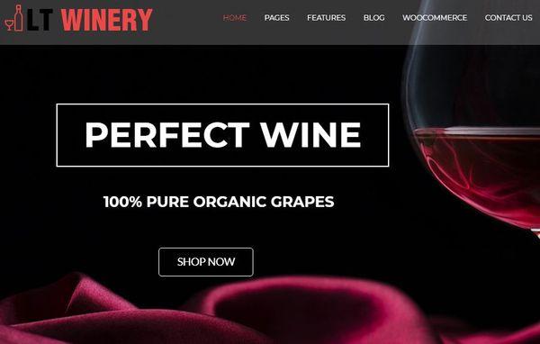 LT Winery – Easily Customizable WordPress Theme