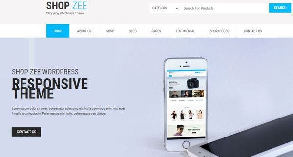 Shopzee -Plugins Compatible WordPress Theme