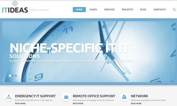 IT Consulting – Content Modules Supportive WordPress Theme