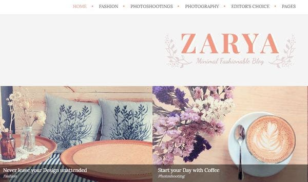 Zarya – Instagram Feed Enabled WordPress Theme