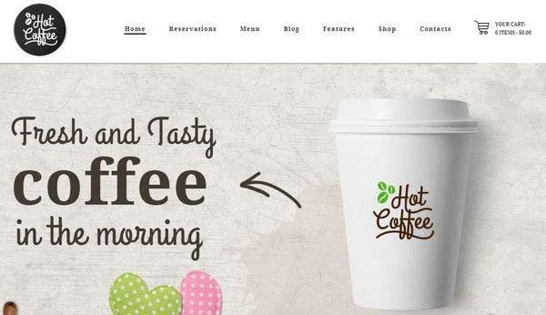 Hot Coffee - Booked Appointments Plugin Compatible WordPress Theme