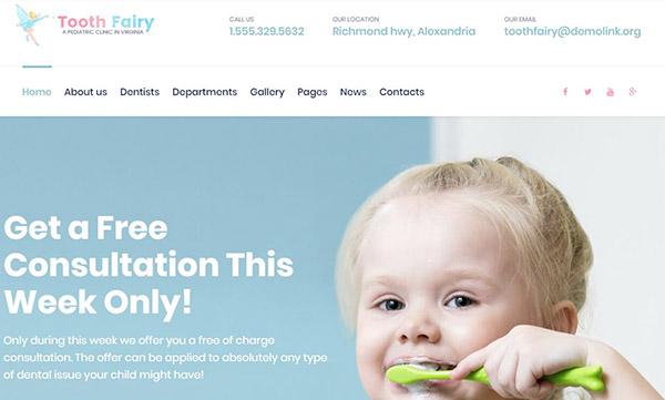 Tooth Fairy – Pediatric Dentistry WordPress Theme