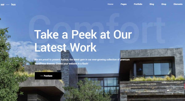 aarhus a wordpress theme for architect