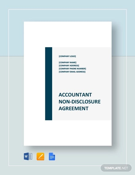 accountant non disclosure agreement template1