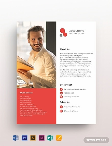 accounting bookkeeping services flyer example