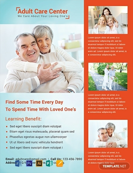 adult care center flyer design