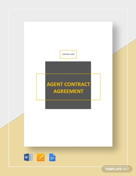 agent contract agreement template