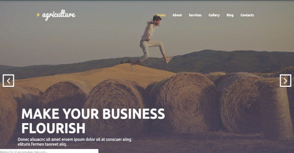 agriculture elementor wordpress theme