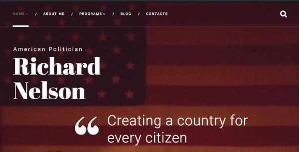 american politician parallax wordpress theme