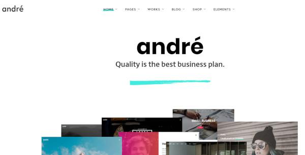 andré – seo optimized wordpress theme