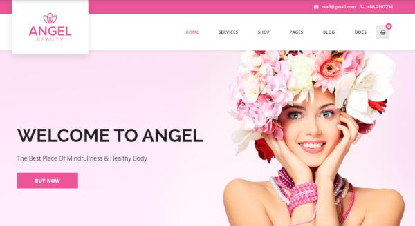 angel retina ready wordpress theme