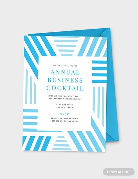 annual business cocktail party invitation