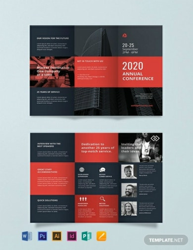 annual business conference brochure template