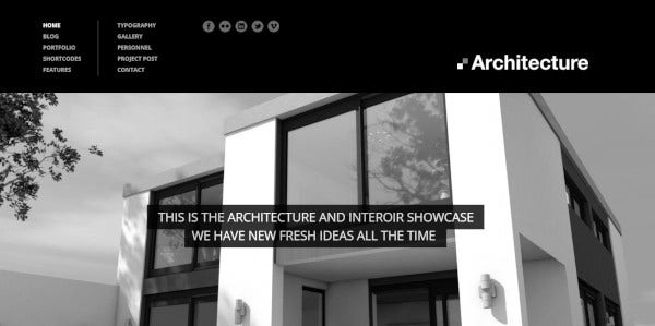 architecture a responsive wp theme design