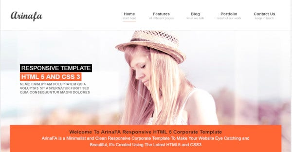 ArinaFA – Fully Responsive WordPress Theme