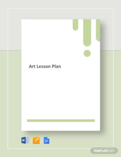 art lesson plan template