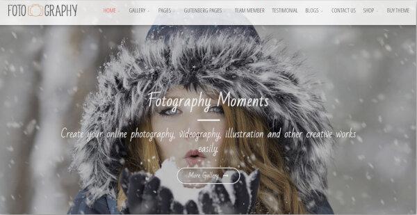 17. Fotography – Lightbox View WordPress Theme