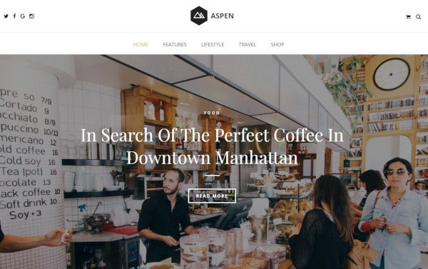 aspen – woocommerce wordpress theme
