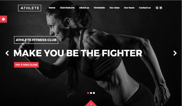 athlete woo commerce wordpress theme