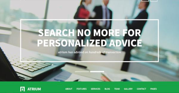 atrium financial consulting wordpress theme