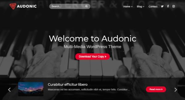 audonic – responsive wordpress theme