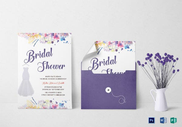 autumn bridal shower invitation template