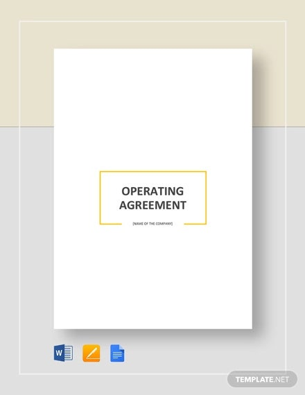 basic operating agreement template