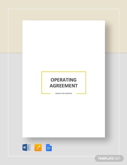 Basic Operating Agreement
