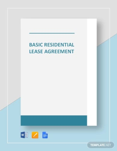 basic residential lease agreement template1