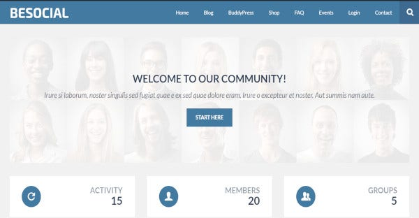 Be social - Woocommerce WordPress Theme