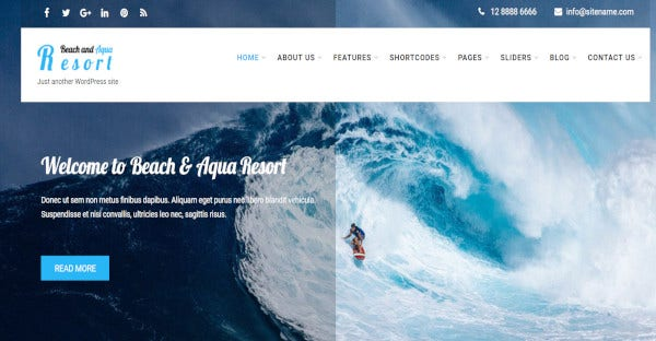 beach pro translation ready wordpress theme