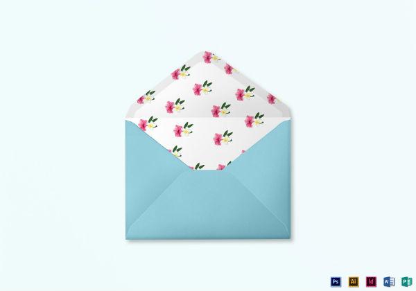 beach wedding card envelope template