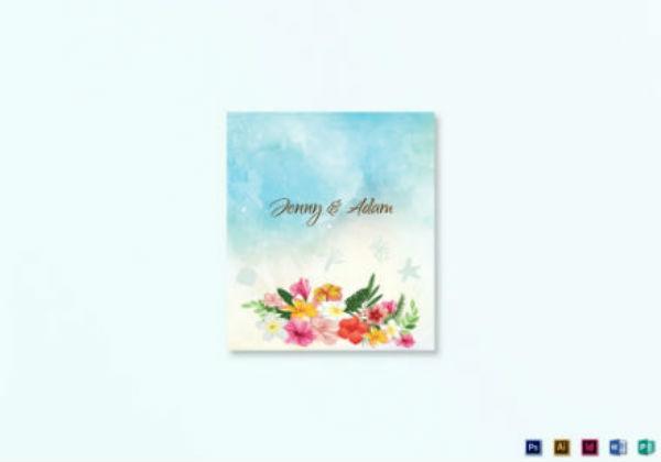 beach wedding place card template