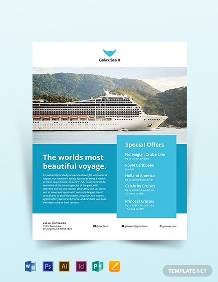beautiful voyage cruise flyer sample