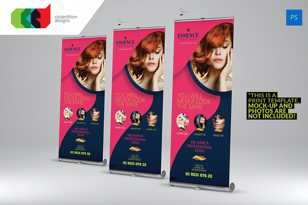 beauty care roll up banner