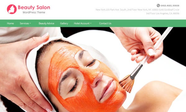 beauty salon – customized wordpress theme