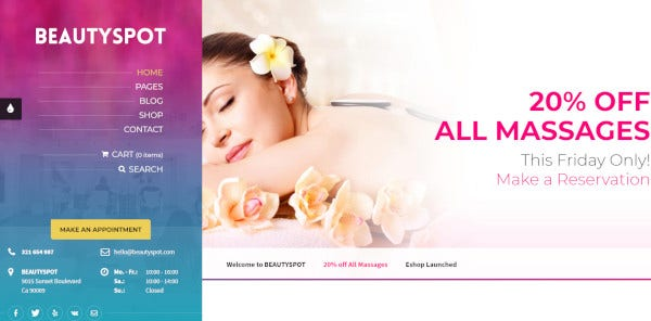beautyspot – custom features wordpress theme
