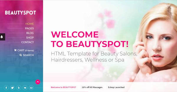 beautyspot wordpress theme for salon beauty 1