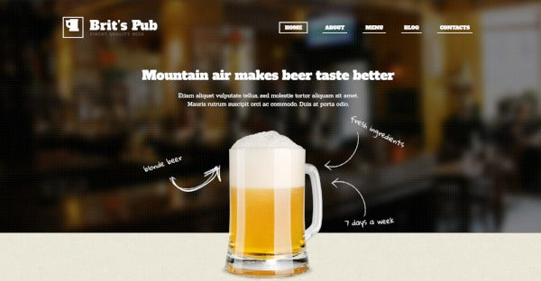 Beer Pub WPML Ready WordPress Theme