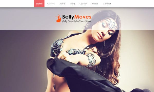 bellymoves seo optimized wordpress theme